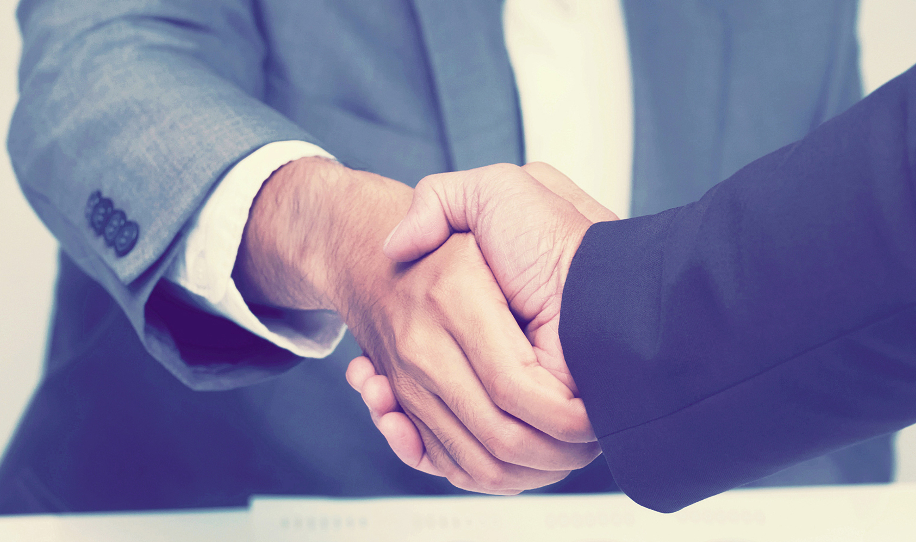 businessman shaking hands, business connection concept.